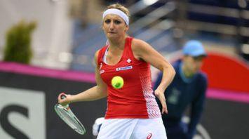Теннисистки Швейцарии сравняли счет в полуфинальном матче Кубка Федерации с Беларусью