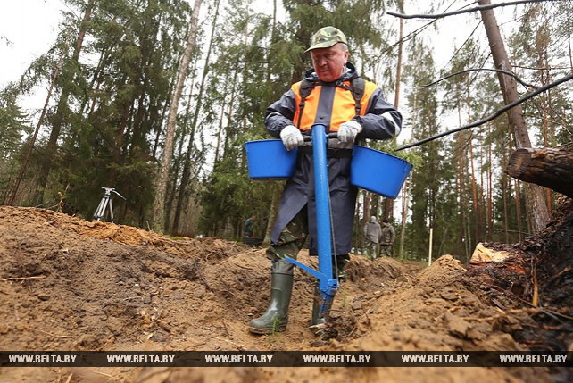 Андрей Кобяков принял участие в посадке леса в Минской области