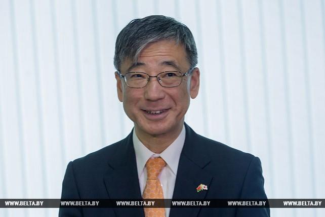 """Посол Японии в Республике Беларусь торжественно передал оборудование для УЗ """"Брестская областная больница"""""""