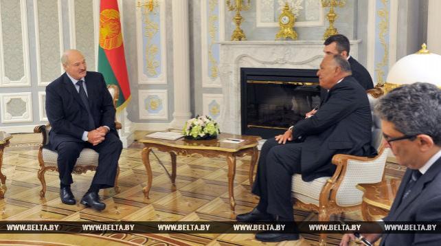 Президент Беларуси встретился с министром иностранных дел Египта