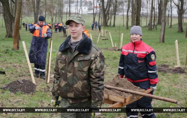 Жители Могилевской области приняли участие в республиканском субботнике