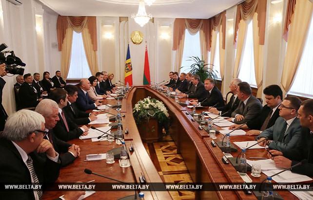 Встреча Кобякова с премьер-министром Молдовы в расширенном составе