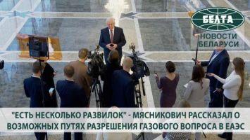 """""""Есть несколько развилок"""" - Мясникович рассказал о возможных путях разрешения газового вопроса в ЕАЭС"""