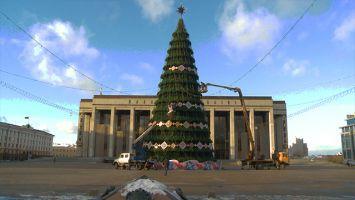 Главную новогоднюю елку Беларуси украсят светодинамическими игрушками с национальным орнаментом