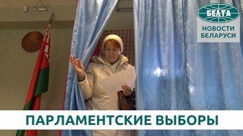 Голосование на парламентских выборах в Минской области