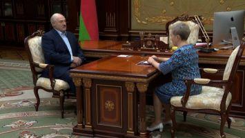 Лукашенко обсудил с Ермаковой ситуацию в Белгазпромбанке и поблагодарил за проделанную работу