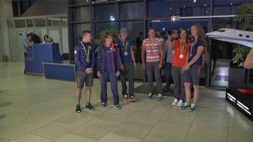Белорусские призеры Игр вернулись на родину