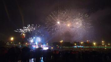 Салют в честь Дня Независимости Беларуси в Минске