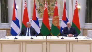 Лукашенко: у Беларуси и Кубы есть четкая политическая воля продолжать взаимовыгодное сотрудничество