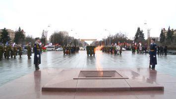 Церемония возложения венков к монументу Победы в Минске