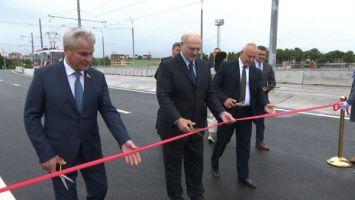 """""""Это важнейшая дорога, и мы ее сделали"""" - Лукашенко открыл в Витебске реконструированный путепровод """"Полоцкий"""""""