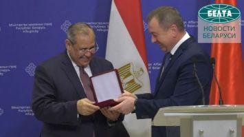 Беларусь и Египет обсудили вопросы двустороннего сотрудничества