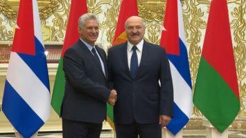 Встреча президентов Беларуси и Кубы прошла во Дворце Независимости