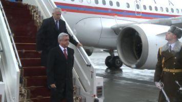 Президент Армении Серж Саргсян прибыл в Беларусь