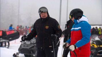 Лукашенко и Путин продолжили общение за катанием на горных лыжах