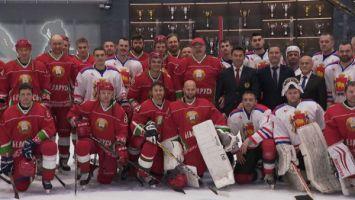 Хоккейная команда Президента Беларуси победила гродненцев в матче любительского турнира