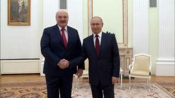 Путин: отношения России и Беларуси развиваются, и развиваются успешно