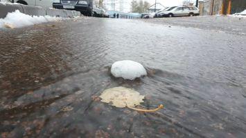 Первый снег в Минске