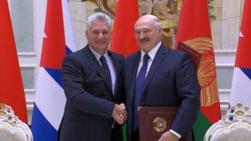 Президенты Беларуси и Кубы в совместном заявлении подтвердили союзнический характер отношений