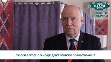 Белорусские избиратели активно голосуют досрочно - Лебедев