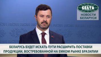 Беларусь будет искать пути расширить поставки продукции, востребованной на емком рынке Бразилии