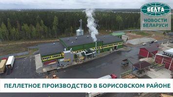 Пеллетное производство открылось в Борисовском районе