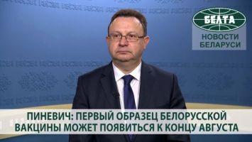 Пиневич: первый образец белорусской вакцины может появиться к концу августа