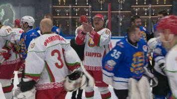 Хоккейная команда Президента победила в первом матче финальной серии любительского турнира