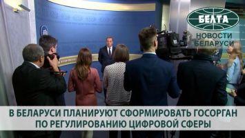 В Беларуси планируют сформировать госорган по регулированию цифровой сферы