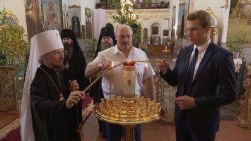 Лукашенко посетил Свято-Успенский Жировичский мужской монастырь