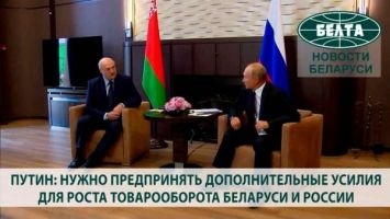 Путин: нужно предпринять дополнительные усилия для роста товарооборота Беларуси и России
