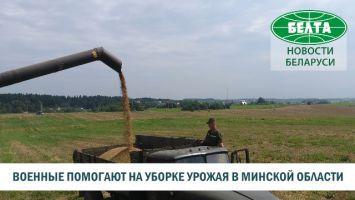 Военные помогают на уборке урожая в Минской области