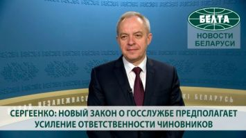 Сергеенко: новый закон о госслужбе предполагает усиление ответственности чиновников