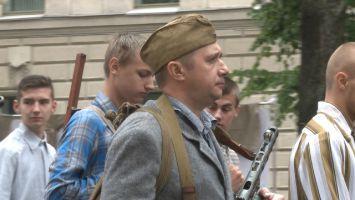 Реконструкция партизанского парада 1944 года в Минске