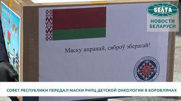 Совет Республики передал средства индивидуальной защиты РНПЦ детской онкологии в Боровлянах