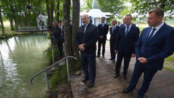 Лукашенко в Славгородском районе побывал на Голубой кринице