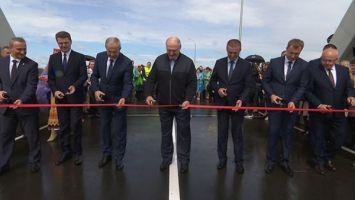Лукашенко открыл мост через реку Сож в Славгородском районе