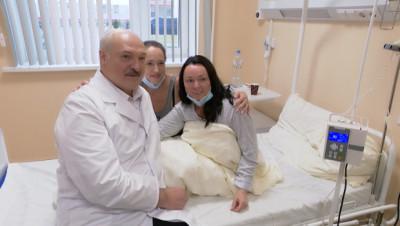 Лукашенко посетил РНПЦ онкологии и медицинской радиологии