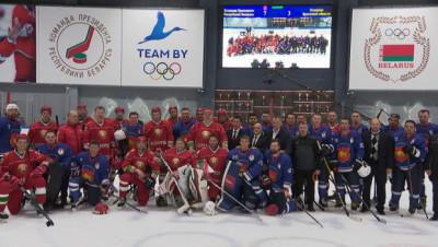 Хоккейная команда Президента выиграла у сборной Брестской области в матче любительского турнира