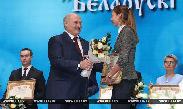 Александр Лукашенко и Виолетта Скворцова