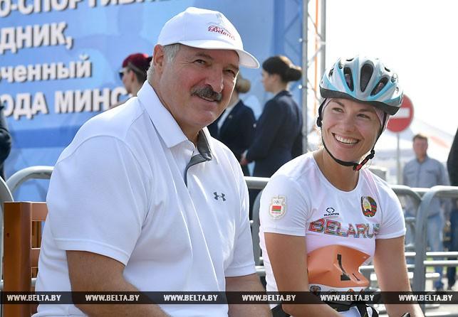 Александр Лукашенко и Надежда Скардино