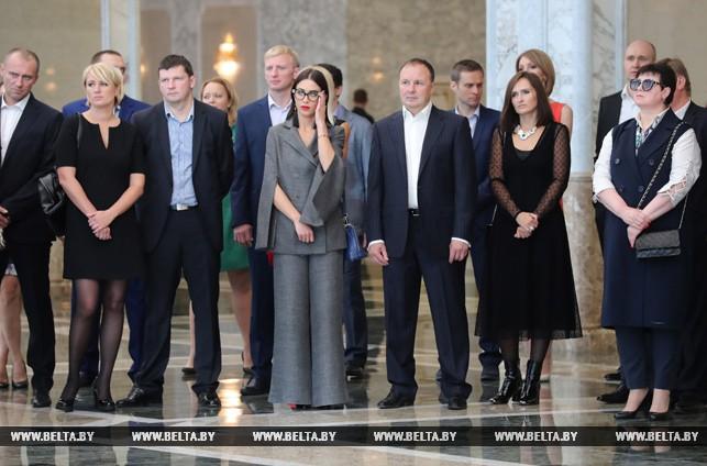 Лукашенко провел прием к20-летию собственной хоккейной команды