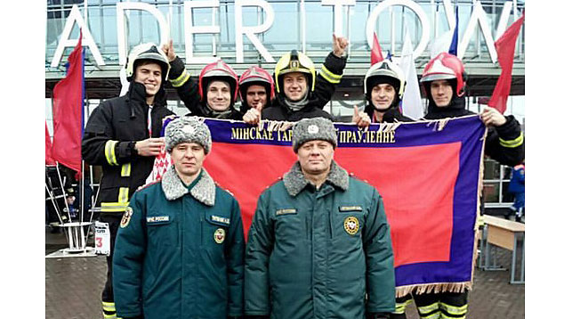 Белорусские спасатели быстрее всех покорили самое высокое здание Санкт-Петербурга