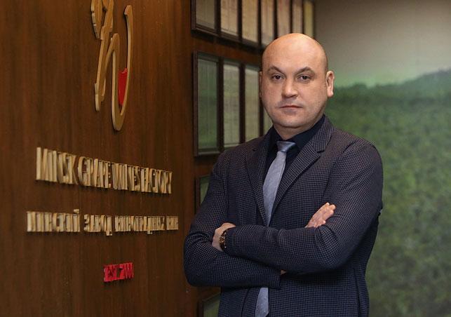 """Генеральный директор ЗАО """"Минский завод виноградных вин"""" Иван Троцкий."""