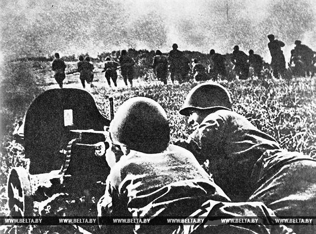 Контратака в районе Острошицкого Городка (севернее Минска). Июнь 1941 года
