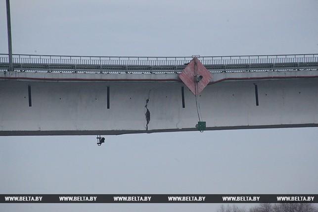 Треснутый мост вЖитковичском районе временно будет дублировать понтонный мост