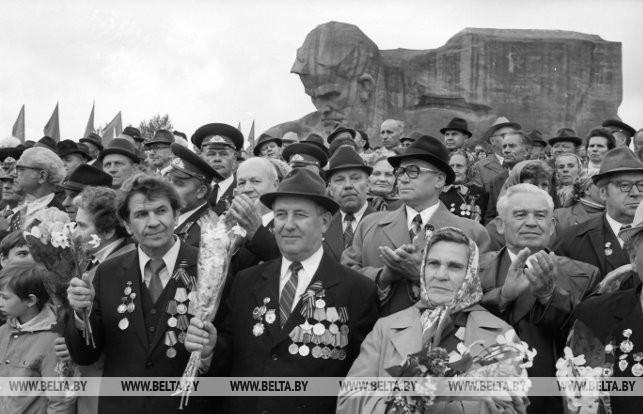 Ветераны войны в Брестской крепости, 1984 г.