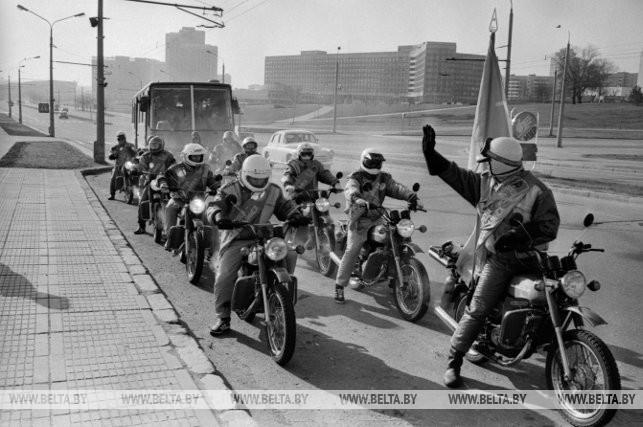 Мотопробег, посвященный Дню Победы и 70-летию Ленинского комсомола, 1988 г.