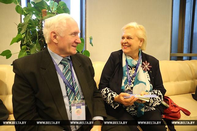 Петрис Ривжа и Байба Ривжа из Академии наук Латвии