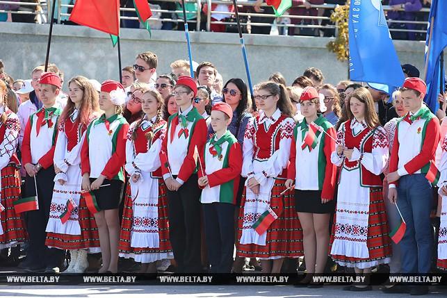 ВМинске прошла патриотическая акция «Слаўся, зямлі нашай светлае імя»